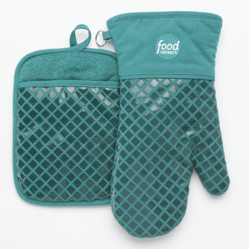 Food Network™ Silicone Oven Mitt & Pot Holder Set