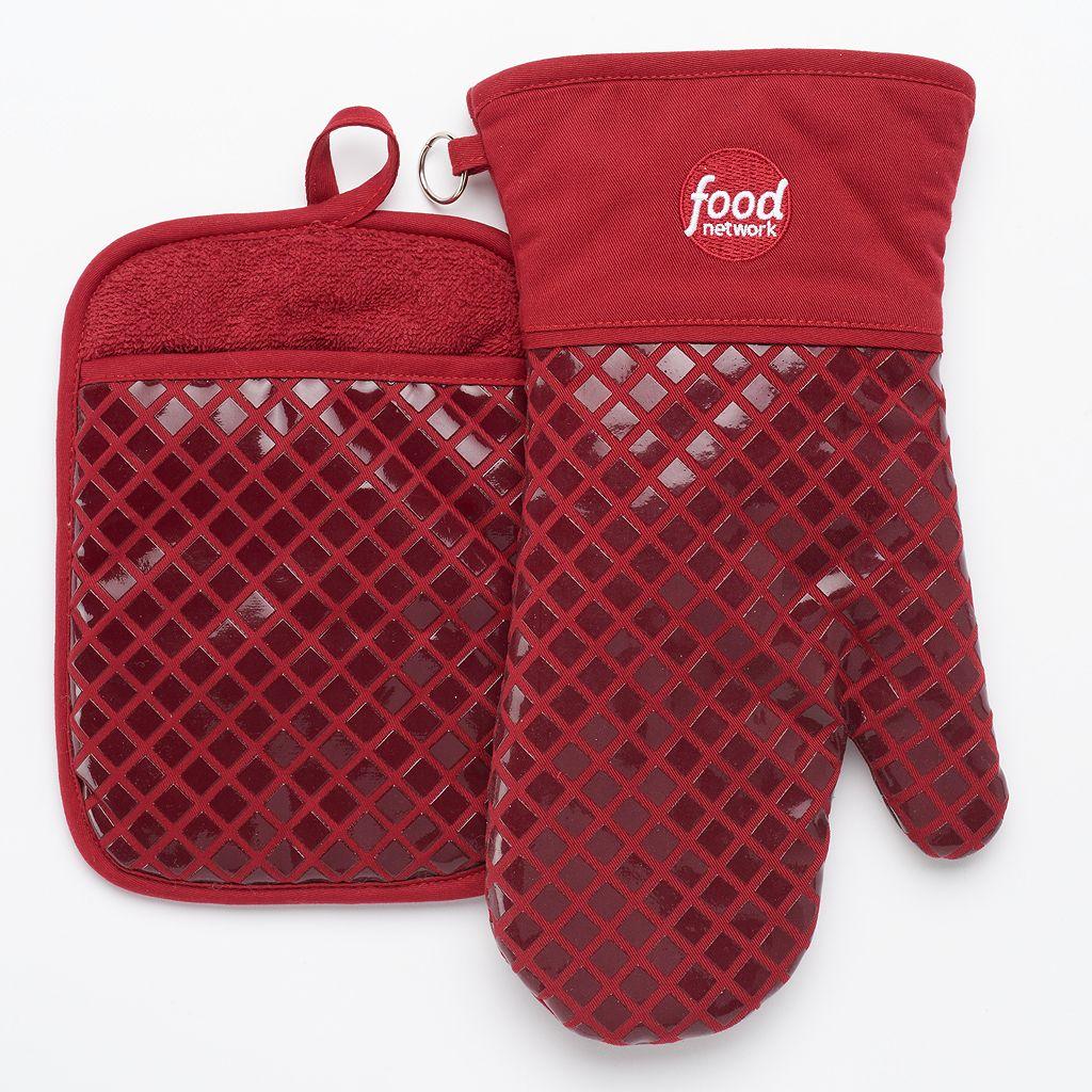 Food Network™ Silicone Oven Mitt & Potholder Set
