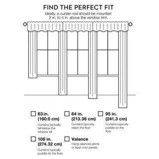 Madison Park 1-Panel Crystal Fretwork Outdoor Curtain