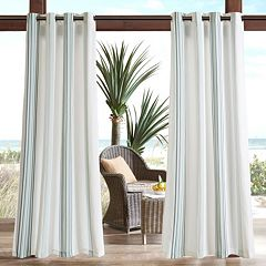 Madison Park Crystal Fretwork Outdoor Curtain