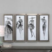Uttermost Fashion Sketchbook Framed Wall Art 4-piece Set