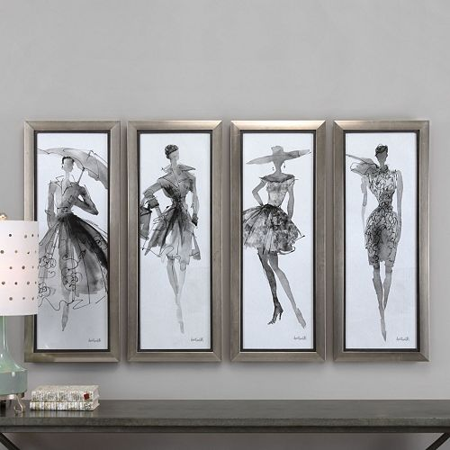 Uttermost Fashion Sketchbook Framed Wall Art 4-piece Set