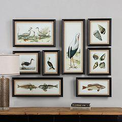 Seashore Framed Wall Art 8 pc Set