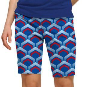 Women's Loudmouth Golf Lounge Geo Bermuda Shorts