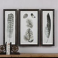 Feather Study Framed Wall Art 3-piece Set