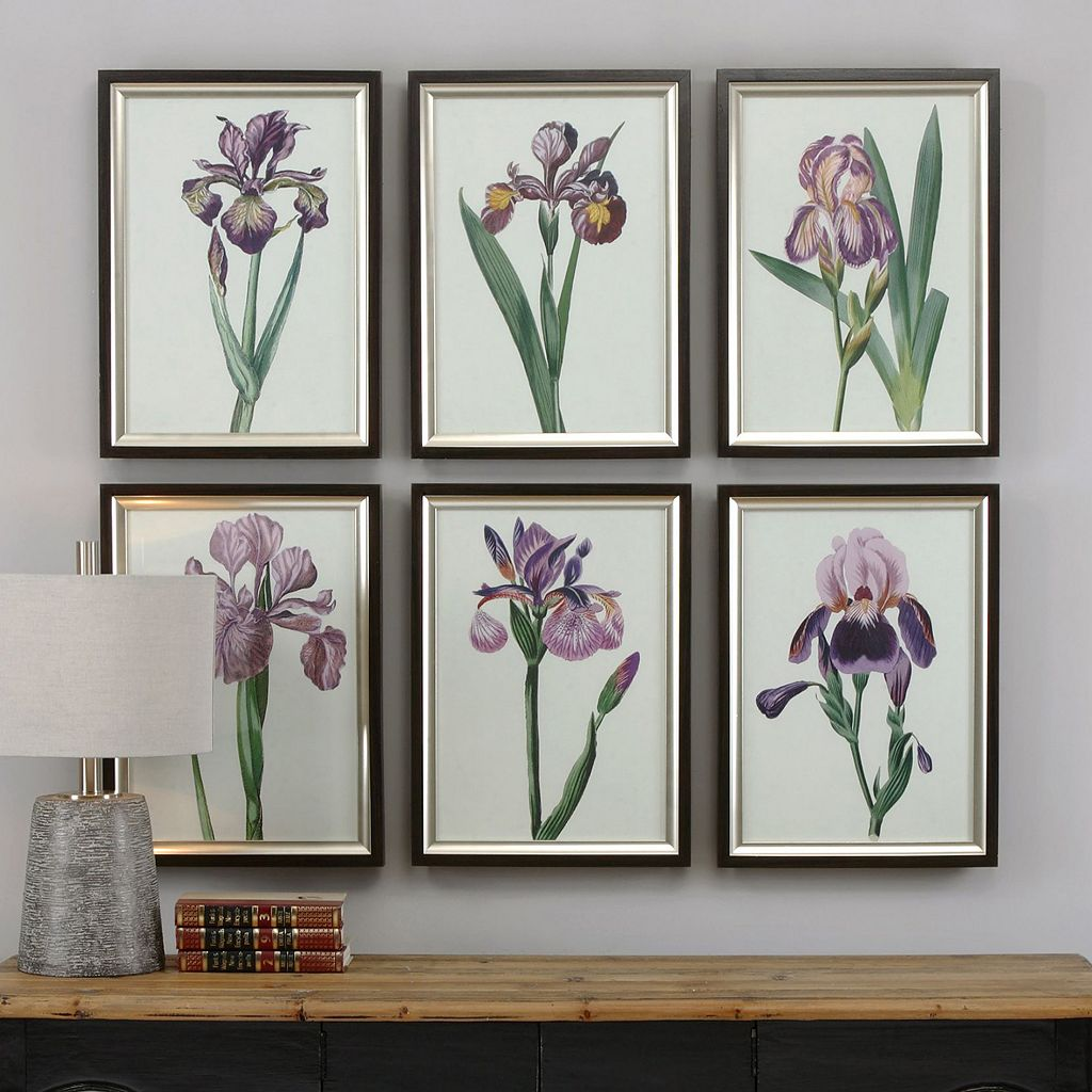 Iris Beauties Framed Wall Art 6-piece Set