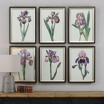 Iris Beauties Framed Wall Art 6-piece Set