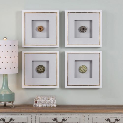Sea Urchins Framed Wall Art 4-piece Set