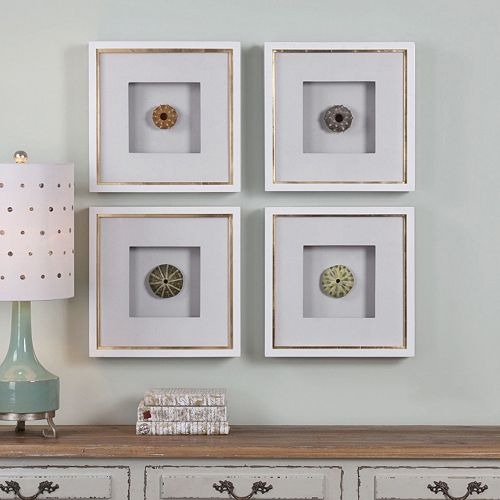 Sea Urchins Framed Wall Art 4-piece Set