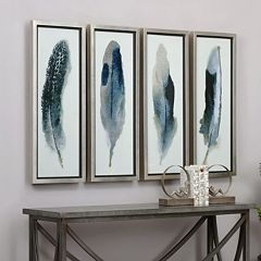 Uttermost Feathered Beauty Framed Wall Art 4-piece Set