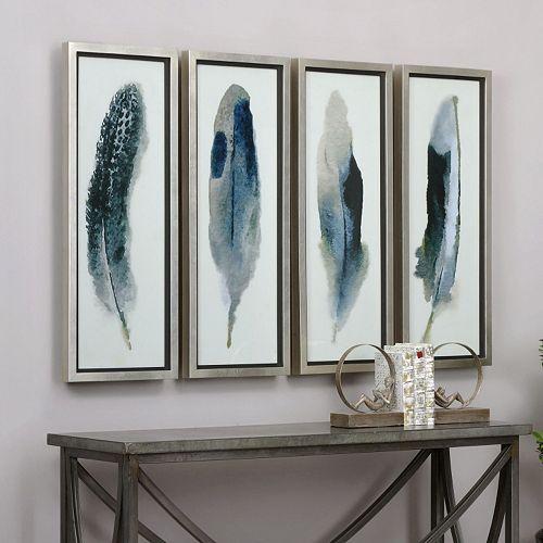 Uttermost Feathered Beauty Framed Wall Art 4-piece Set