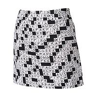 Women's Loudmouth Golf World Puzzle Print Skort