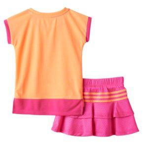 """Toddler Girl adidas """"Rise to Shine"""" Tee & Skort Set"""