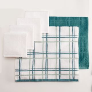 Food Network™ Bar Mop Plaid Dishcloth & Kitchen Towel Set