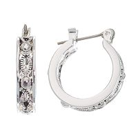Napier® Silver-Tone Antiqued Hoop Earrings