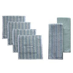 Food Network™ Awning Stripe Bar Mop Dish Cloth & Kitchen Towel 4-pk.