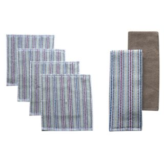 Food Network? Awning Stripe 2-pack Kitchen Towel and 4-pack Dishcloth Set