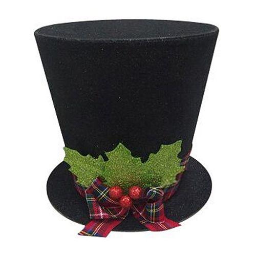 St Nicholas Square Glitter Top Hat Christmas Tree Topper
