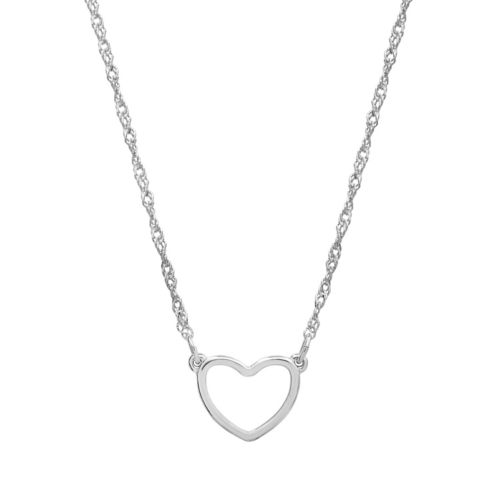 Lc Lauren Conrad Silver Tone Heart Necklace by Kohl's