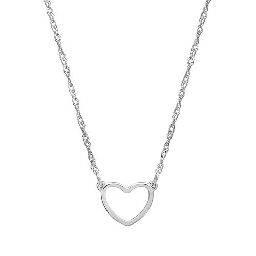 LC Lauren Conrad Silver Tone Heart Necklace