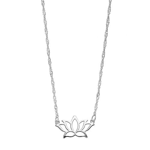 LC Lauren Conrad Silver Tone Lotus Flower Necklace