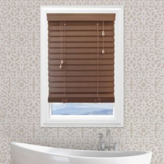 Custom Cut To Order Premium 2.5-inch Faux Wood Blinds - 84'' Length