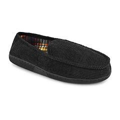 MUK LUKS Men's Corduroy Moccasin Slippers