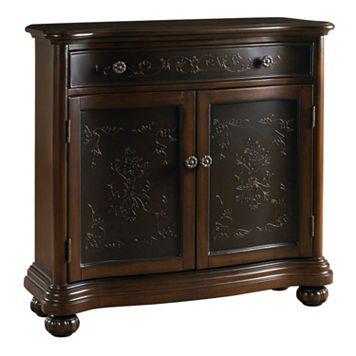 Jackson Dark Brown Ornate 2-Door Accent Cabinet