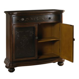 Jackson Dark Brown Ornate 2-Door Accent Cabinet