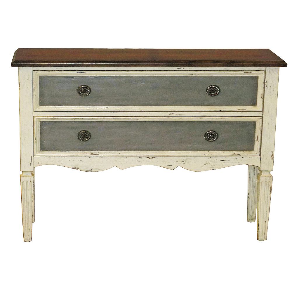 Maurice Three-Tone 2-Drawer Hall Dresser