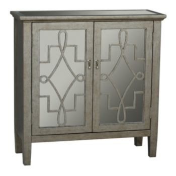 Frome Mirrored 2-Door Accent Cabinet