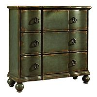 Ashford Dark Green Ring Pull 3-Drawer Hall Dresser