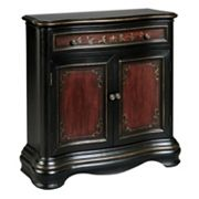 Wendover Black Ornate 2-Door Hall Dresser