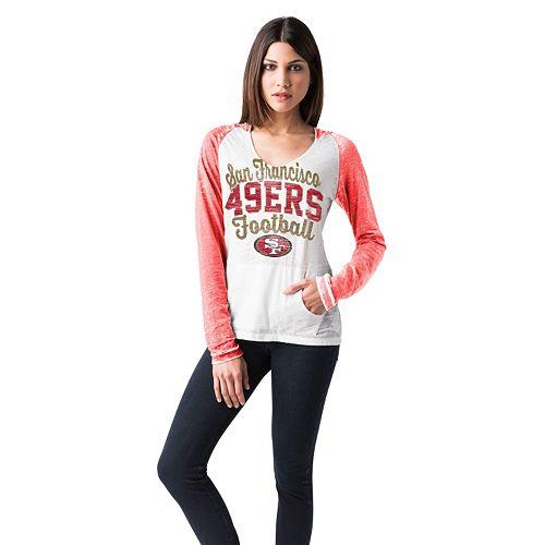 661d29e7b Women's San Francisco 49ers Burnout Hooded Tee