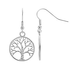 Nickel Free Tree of Life Drop Earrings