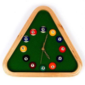 Pool Rack Wall Clock
