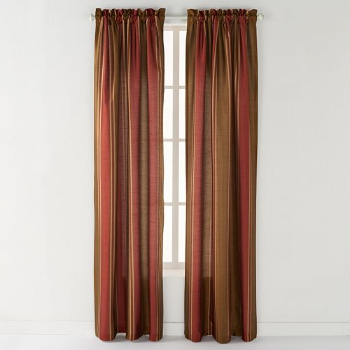 CHF 1-Panel Striped Faux-Silk Window Curtain