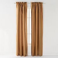 CHF Striped Faux-Silk Window Curtain