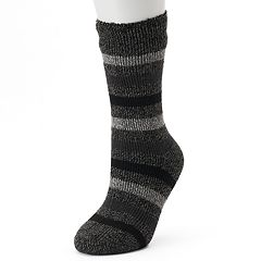 Women's Heat Holders Thermal Striped Crew Socks