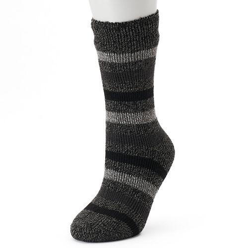 Women's Heat Holders Thermal Striped Crew Socks