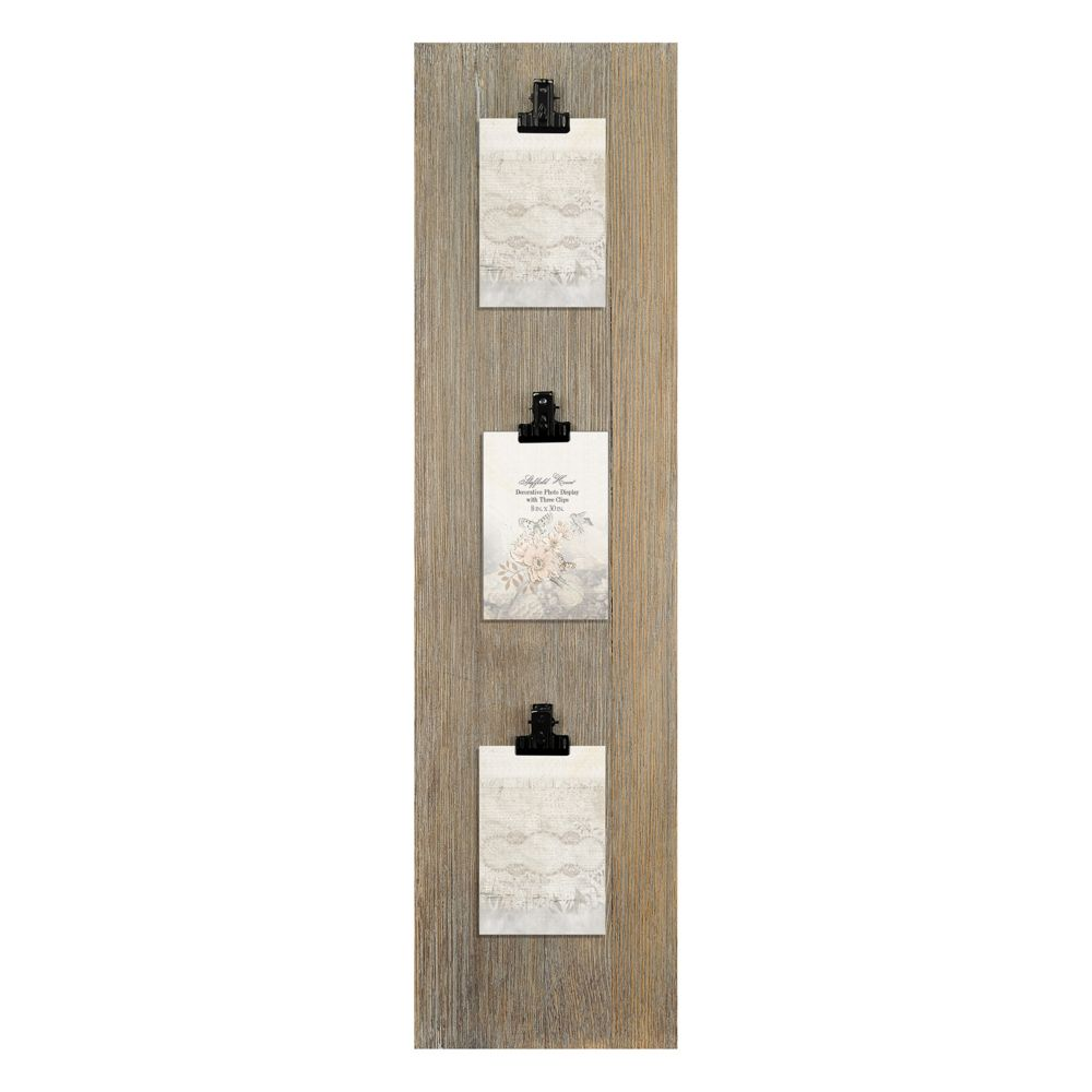 Vertical Wall Decor home vertical 3-photo clip wall decor