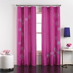 CHF & You 1-Panel Jillian Taffeta Window Curtain