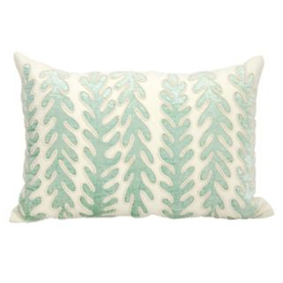 Mina Victory Couture Luster Aqua Corals Throw Pillow