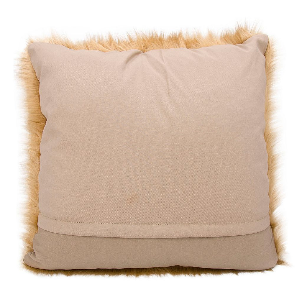 Mina Victory Faux Fur Plush Throw Pillow