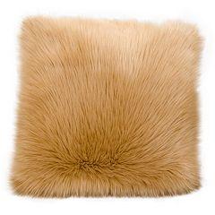 Mina Victory Faux Fur Plush Throw Pillow
