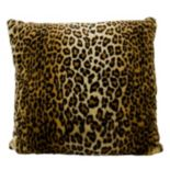 Mina Victory Faux Fur Leopard Print Throw Pillow