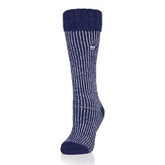 Women's Heat Holders Thermal Ribbed Crew Boot Socks