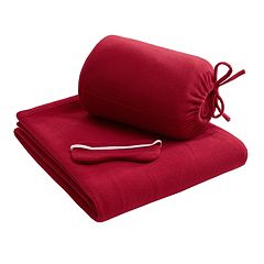 Intelligent Design Twin XL Microfleece Blanket & Eyemask