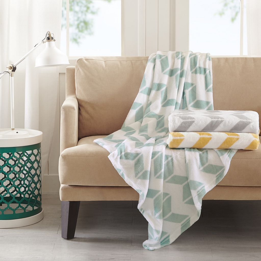 Intelligent Design Chevron Plush Throw