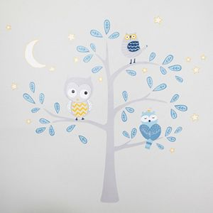 Happi by Dena Night Owl Jumbo Wall Appliques by Lambs & Ivy
